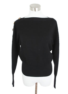 Rag & Bone Black Cotton Ribbed Sweater 1
