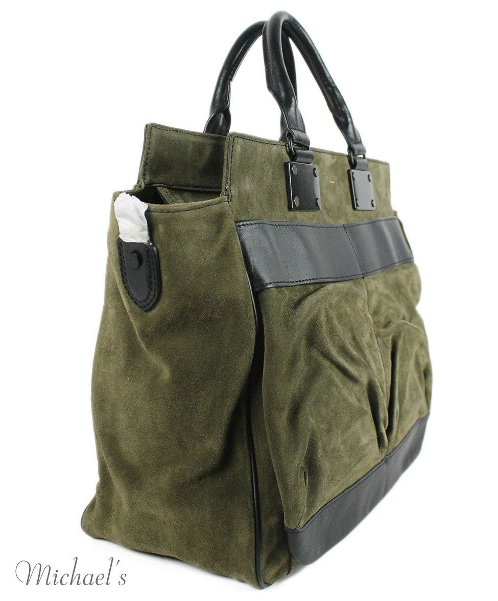 Rag & Bone Green Olive Suede Black Handbag - Michael's Consignment NYC  - 2