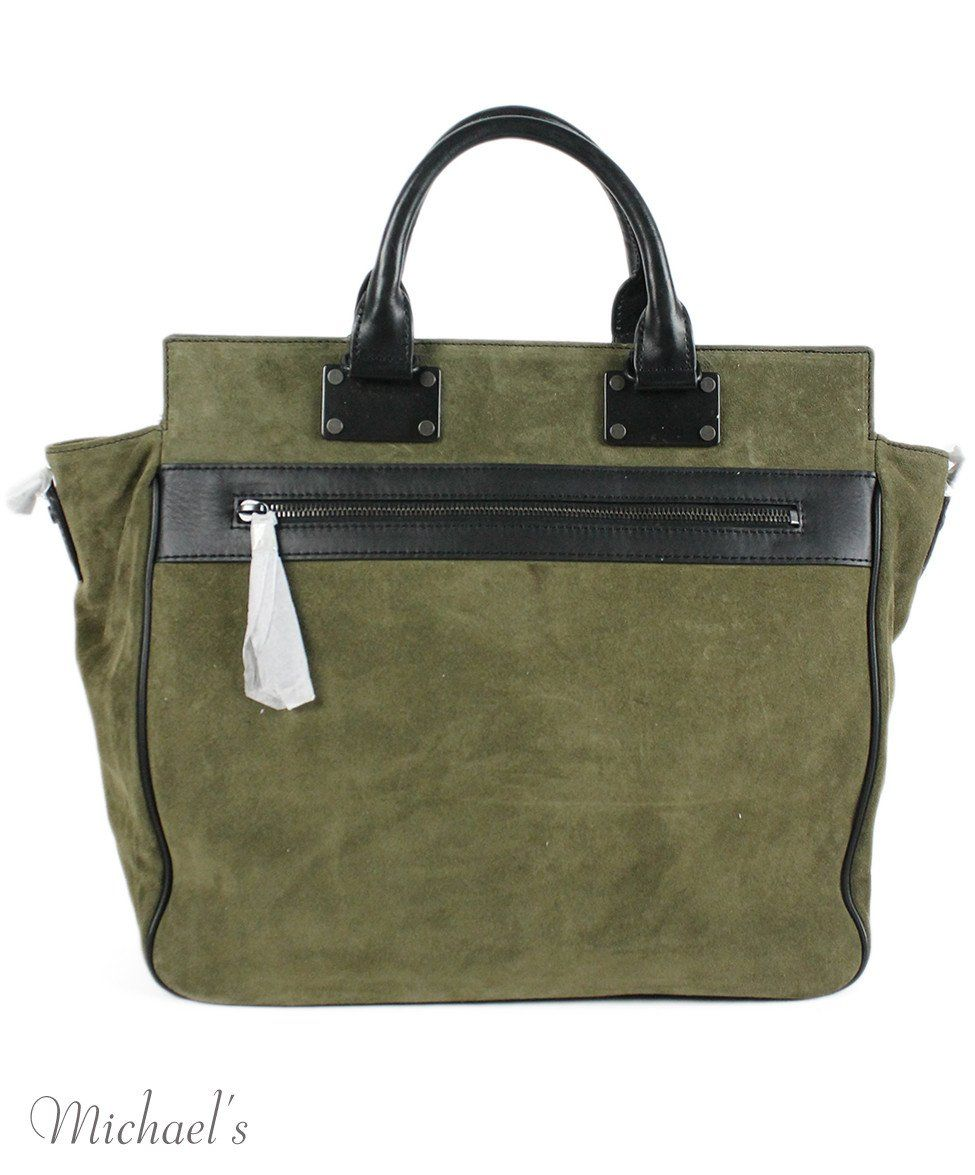 Rag & Bone Green Olive Suede Black Handbag - Michael's Consignment NYC  - 3