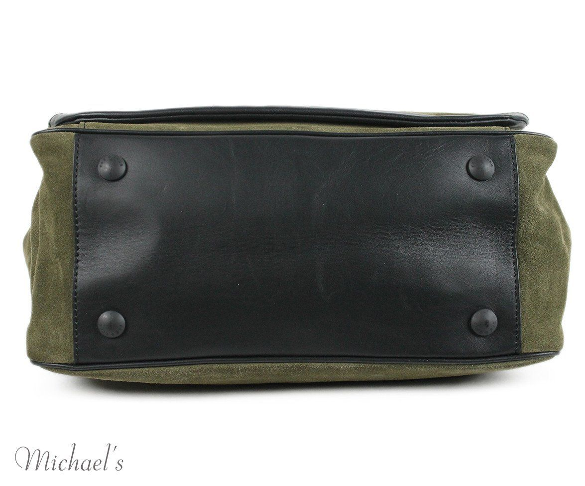 Rag & Bone Green Olive Suede Black Handbag - Michael's Consignment NYC  - 4