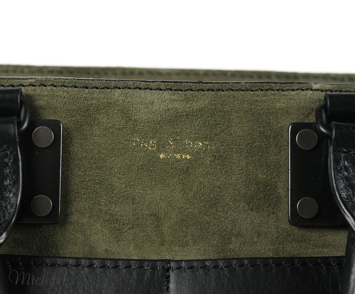 Rag & Bone Green Olive Suede Black Handbag - Michael's Consignment NYC  - 5