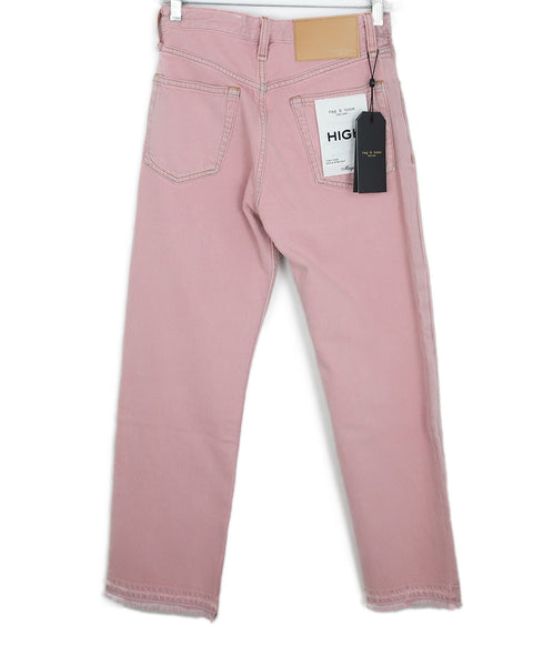 Rag & Bone Pastel Pink Denim Pants 2