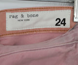 Rag & Bone Pastel Pink Denim Pants 3
