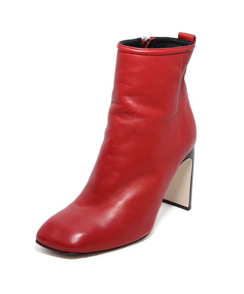 Rag & Bone Red Leather Booties 1