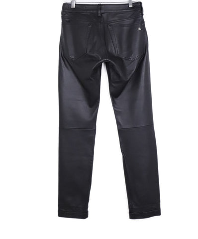 Rag & Bone Black Leather Skinny Pants 1
