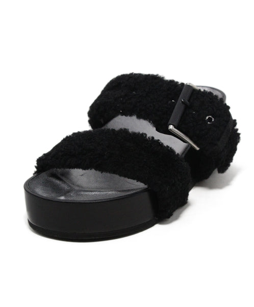 Rag & Bone black shearling sandals 1