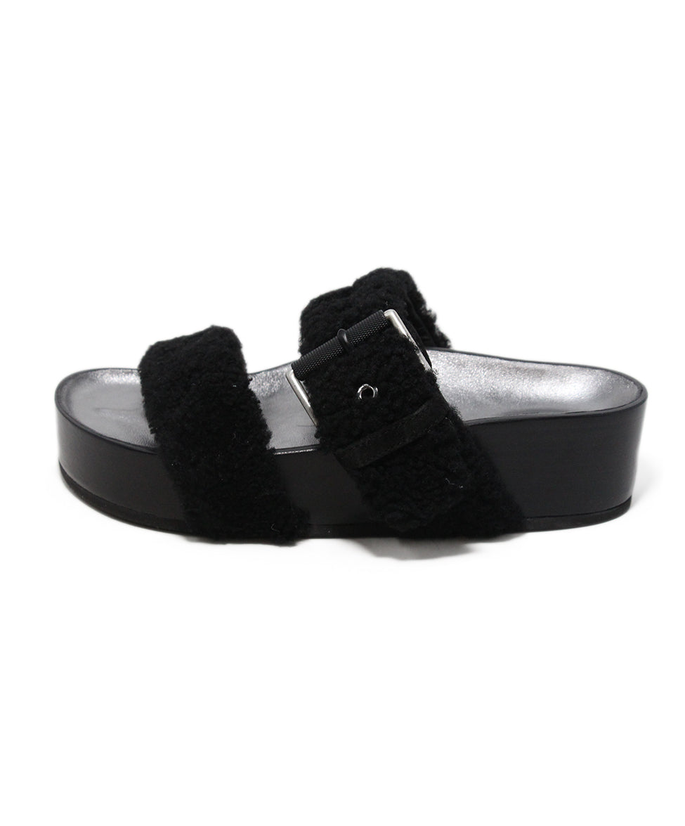 Rag & Bone black shearling sandals 2