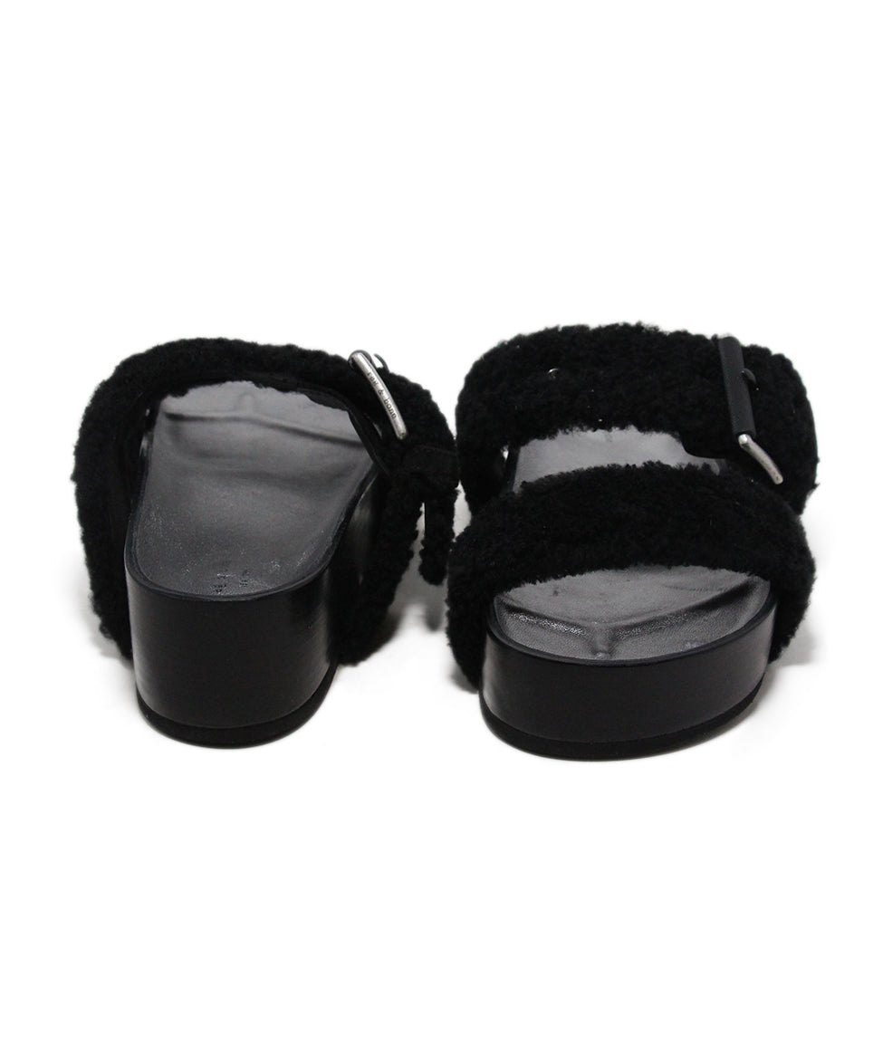 Rag & Bone black shearling sandals 3