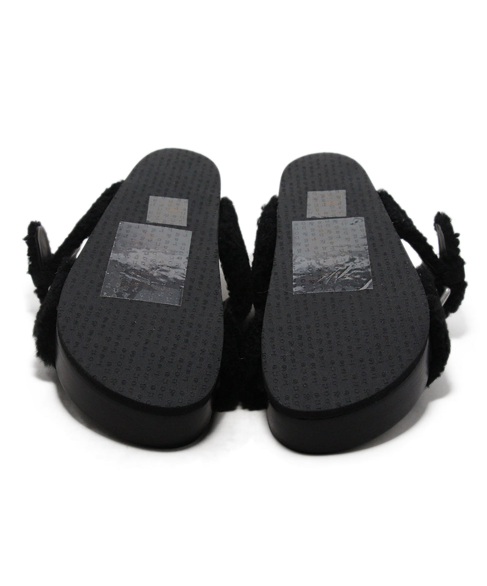 Rag & Bone black shearling sandals 5