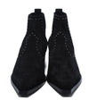 Rag & Bone Black Suede Studs Elastic Trim Booties 3