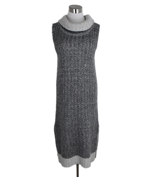 Rag & Bone Grey Knit Wool Mohair Dress 1