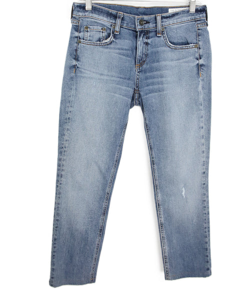Rag & Bone Blue Denim Pants 1