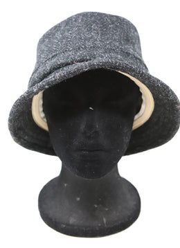 Rag & Bone Grey and Black Wool Hat 1