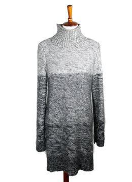 Rag & Bone  Black Grey Wool Silk Dress Sz 6
