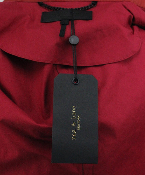 Rag & Bone Red Cotton Polyurethane Raincoat 4