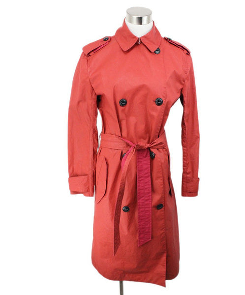 Rag & Bone Red Cotton Polyurethane Raincoat 1