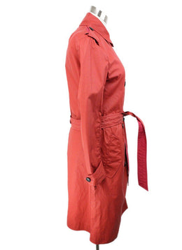 Rag & Bone Red Cotton Polyurethane Raincoat 2