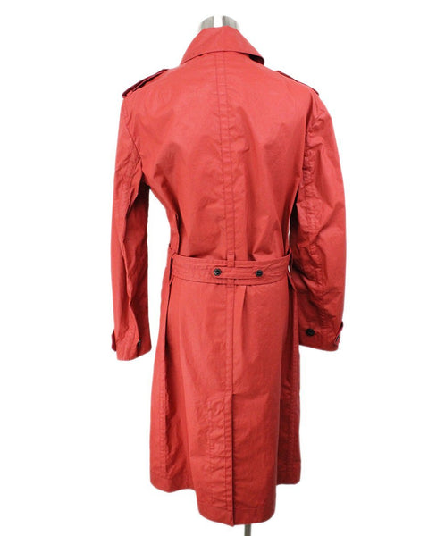 Rag & Bone Red Cotton Polyurethane Raincoat 3