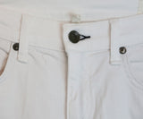 Rag & Bone White Denim Pants with distressed detail 5