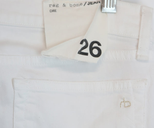 Rag & Bone White Denim Pants with distressed detail 3