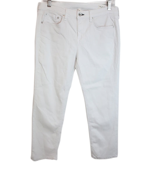 Rag & Bone White Cotton Pants 1