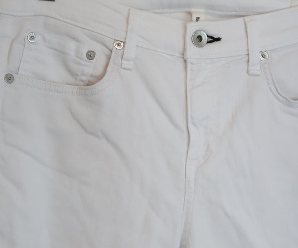 Rag & Bone White Cotton Pants 4