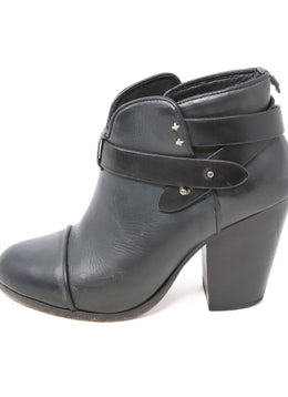 Rag & Bone Black Leather Booties 2