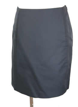 Ralph Lauren Black Cotton Silk Skirt 1