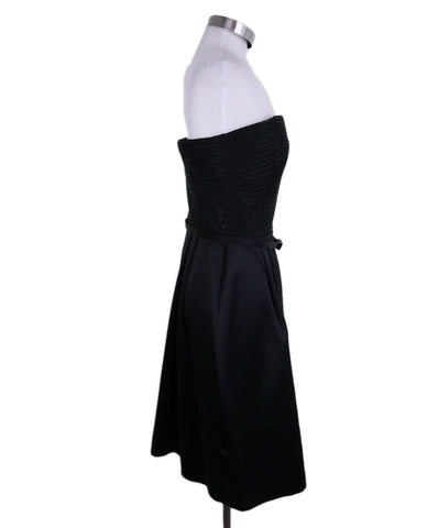 Ralph Lauren Black Silk Beaded Dress 1