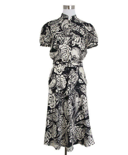 Ralph Lauren Black White Print Dress 1