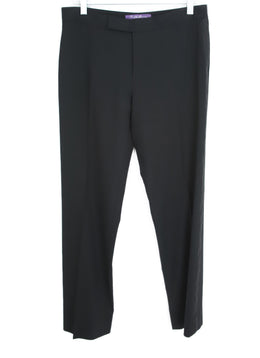 Ralph Lauren Black Wool Satin Pants 1