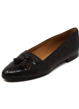 Ralph Lauren Brown Alligator Loafers 1