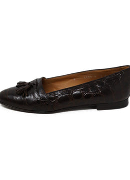 Ralph Lauren Brown Alligator Loafers 2
