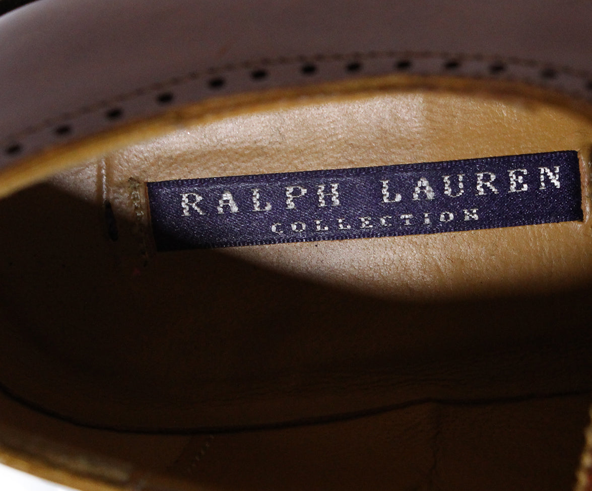 Ralph Lauren Brown Leather Oxfords 7
