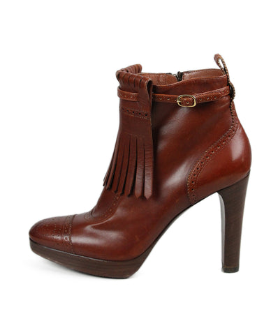 Ralph Lauren Brown Leather Spectator Booties 1
