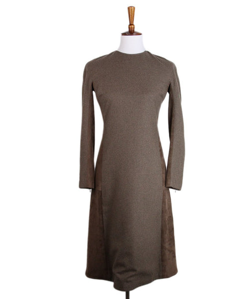 Ralph Lauren Brown Suede Dress 1