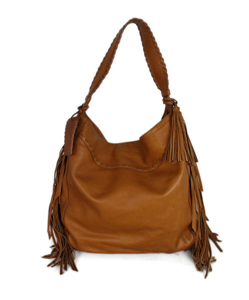 Ralph Lauren Brown Tan Leather Hobo Bag 1