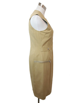 Ralph Lauren Khaki Cotton Zipper Detail Dress 2