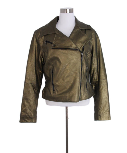 Ralph Lauren Metallic Gold Goat Suede Jacket 1