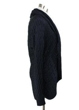 Ralph Lauren Navy Silk Cableknit Sweater 2