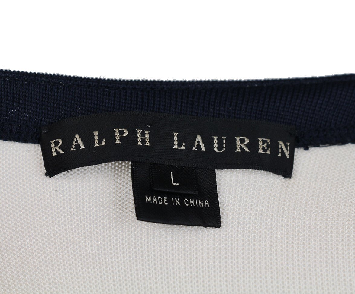 Ralph Lauren Navy Striped Silk Long Dress 5