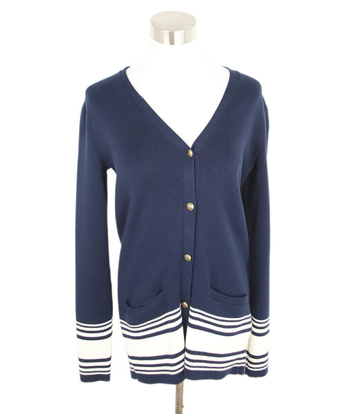 Ralph Lauren Navy White Cotton Sweater 1