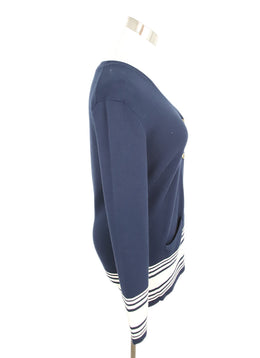 Ralph Lauren Navy White Cotton Sweater 2