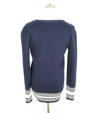 Ralph Lauren Navy White Cotton Sweater 3