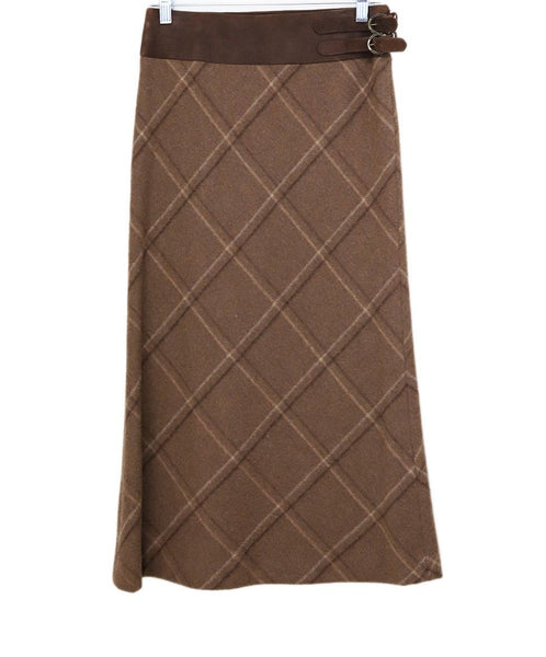 Ralph Lauren Neutral Plaid Skirt