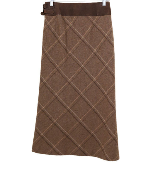 Ralph Lauren Neutral Plaid Skirt 1