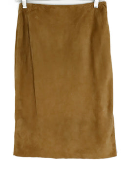 Ralph Lauren Neutral Tan Suede Skirt 1