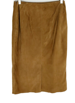 Ralph Lauren Neutral Tan Suede Skirt 2