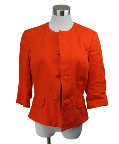 Ralph Lauren Orange Linen Jacket 1
