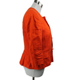 Ralph Lauren Orange Linen Jacket 2